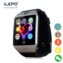 Wholesale Gsm Phone Calling - Q18S smart wrist GSM phone watch touch screen iLepo smart watch with camera and NFC function long battery life standby for daily use