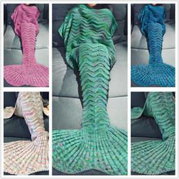 Manta de sirena linda mantas de tejer de lana sirena manta de la cola manta  de sofá de invierno para niños 180   90 cm A0667 1b4e2dae2e3