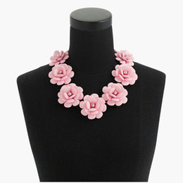Wholesale Red Statement Bubble Necklace - Original New Brand Fashion Choker Maxi Necklace Gold Women Crystal Bubble Multi Layer Flower Summer Statement Necklaces Female Jewelry
