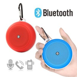 Wholesale surround sound car - Y3 Outdoor Mini Bluetooth Speaker Portable Sports Wireless Subwoofers Surround Stereo Bass Sound with Hang Handle Car Speakers Music Player