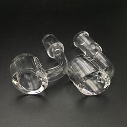 Wholesale Glasses Female - Female Male 10 14 18 mm Quartz Nail 4mm Thick 45 90 Degrees 100% Pure Quartz Banger Nail Domeless Glass Bong Nail