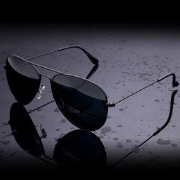 Wholesale Sun Glasses Polaroid - New Sunglasses Men Women Pilot 62mm UV400 Vintage Aviator Mirror Band Polarized Bain Glass Lenses Sun Glasses RANEV with cases