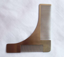 Wholesale Hair Template - tool tool Man Gentleman Beard Trim Template hair cut hair molding trim template beard modelling tools with