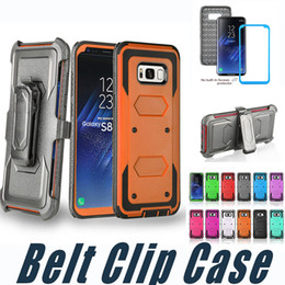 Wholesale Screen For Alcatel - Armor Hybrid Defender Kickstand Case With Belt Clip and Screen Cover For iPhone 7 7S 6 6S Plus 5 5S SE Alcatel Idol4 Fierce4 TUR BLU R1 HD
