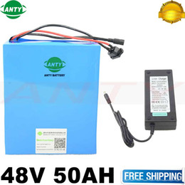 Wholesale Electric Bicycle Motor 48v - eBike Battery 48V 50Ah 2000W Bafang Motor Electric Bicycle Battery 48V With 54.6V Charger 50A BMS Safe Lithium Battery Pack