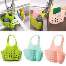 Wholesale Hanging Basket Kitchen - Portable Basket Home Kitchen Hanging Drain Basket Bag Bath Storage Tools Sink Holder Kitchen Accessory vaciar cesta