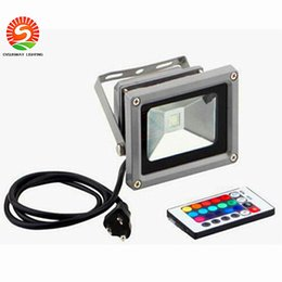 Wholesale Outdoor Colour Changing Light - Outdoor 10W 20W 30W 50W 100W RGB Led Flood Light Colour Changing Wall Washer Lamp IP65 Waterproof + 24key IR Remote Control
