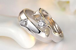 Wholesale Ring Wedding Pair Gold - Female wedding rings contracted mouth a pair of lovers