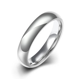 Wholesale Tungsten Carbide Men - Vintage Wedding Ring New Arrival High Polished White Bands Tungsten Carbide Men Rings Free Shipping Wholesale Jewelry