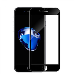 Wholesale pack film - Tempered Explosion Glass Film For Iphone 6 7 6S Plus 3D Curved Full Cover Soft Edge Screen Protectors HD 5 Color With Retail Box Packing