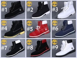 Wholesale Snow Men Leather Boots - Fashion Timberland Mens 7 Eyelets 6-Inch Premium Ankle Boots Timberlands Outdoor Work Hiking Shoes Winter Snow Boots for Men Multi Colors