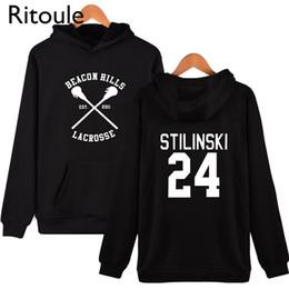 Wholesale Lacrosse Men - Wholesale- Ritoule hills Teen Wolf Stilinski Mens Hoodies Hip Hop xxxl Printed beacon lacrosse Hoodie Fan Brand-clothing