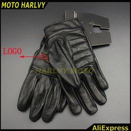 Wholesale Motorcycle Gloves S - Wholesale- 2016 hot sale for Harley motorcyclists leather gloves long section of men's leather motorcycle gloves flame gloves