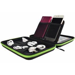 Su geçirmez Taşınabilir Dijital Saklama Kutusu EVA Organizatör Çanta Veri Kablosu Flash Sürücü Cep Telefonu Için Güç Bankası Elektronik Gadget Aksesuarları cheap phones flashing box nereden telefonlar yanıp sönen kutu tedarikçiler
