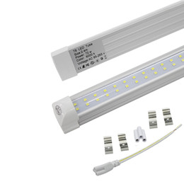 Lampe de lumière à tube led intégrée en Ligne-La double rangée 8ft LED allume le tube intégré 72w des ampoules 110lm / w 2.4m du tube 72w SMD 2835 LED