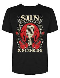 2019 elektrische aufzeichnungen Sleeve Shirts Mode Sun Records elektrische Mic Musik T-shirt T-Shirts unhöflich Top Tee runden Hals