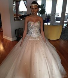 Wholesale Queen Plus - Custom Made Champagne Tulle Vestidos De 15 Anos Debutantes Sweet 16 Party Queen Dress Masquerade Ball Gown Crystals 2017 Quinceanera Dresses