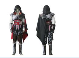 Wholesale Ezio Costume Assassin - Newest Black Assassin Creed 2 II Ezio Cosplay Costume ,Custom made cosplay costume Assassin's Creed II Ezio costume For Helloween