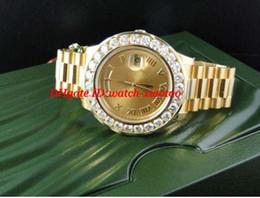 2019 relógio de pulso incrível Relógio De Pulso De luxo Incrível Dos Homens II 18 k 41 MM Ouro Amarelo Maior Relógio De Diamante Movimento Automático Mens Watch Relógios Dos Homens Top Qual relógio de pulso incrível barato