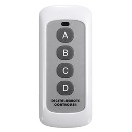 Wholesale Digital Wireless Control Switch - Wholesale- 2016 New RF 443MHz 12V 0.5W Plastic Mini Digital Wireless Remote Control Controller Wall Touch Light Lamp Switch Accessaries