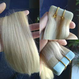 Wholesale Brazilian Invisible - Invisible PU Skin Weft German Blue Tape Extension 100% Indian Human Hair Tape Hair Extension 2.5g pc,20pcs lot 18~28inch
