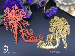 Wholesale Crafting Flowers - Metal cutting dies flower high-heeled shoes Scrapbook card paper craft home decoration embossing stencil cutter