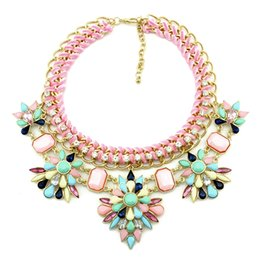 Wholesale Rich Link - Wholesale-2015 New Design Rich and Colorful Female Collar Necklace and Pendant Necklace High Quality Chain Statement Necklace