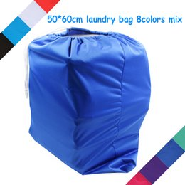 Wholesale Bag For Cloth Diaper - Wholesale-free shipping fasion 50*60cm mummy bag, baby diaper nappy bags pail liner, waterproof laundry bag wet bag for baby cloth diaper