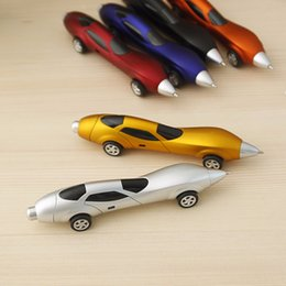 Wholesale Gifts Car Racing - Wholesale-Free shipping Details about Funny Novelty Design Racing Car Shape Ballpoint Pen Office Children Kids Toy Gift free shipping WYQ