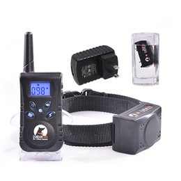 Wholesale Dog Remote Sound - Rechargeable Waterproof Bark Stop Sound Vibrate Electronic Shock Remote Control Training Collar TMPG For Dog Pet