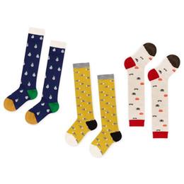 Wholesale Girls Crochet Wear - Cartoon cotton Children Socks Baby Socks Crochet boys girls Knit Knee High Socks Best long Sock kids sock Baby Booties Toddler wear A820