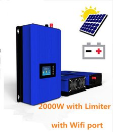 Wholesale 2000W Solar Power Grid Tie Inverter with Limiter and wifi port DC V V AC100V V V V V LCD display second generation