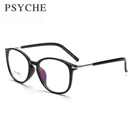 Wholesale Plain Eye Glasses For Men - Wholesale- Fashion Black Brand Spectacle Frame Eye Glasses Frames For Women Summer Men Round Glasses Plain MirrorOculos De Grau X229