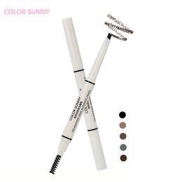 Wholesale Eyebrow Powder Stencil - Wholesale- Waterproof Longlasting Shadow Eyebrow Pencil +3styles Eyebrow stencils Card Make Up Liner Powder Shaper Cosmetic Makeup Tools
