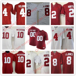 Wholesale Scott Red - Alabama Crimson Tide #10 JK Scott 4 Jerry Jeudy 8 Josh Jacobs 11 Henry Ruggs III Red White College Football Stitched Jerseys S-3XL