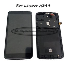Wholesale Order Touch Screen Panel - lcd display screen Black White For Lenovo A399 Lcd Display Screen+Touch Panel Digitizer Glass assembly+Frame Free shipping + Order Tracking