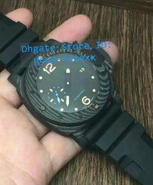 Wholesale Divers Men Watches - Top AAA Men's Mechanical Black Pvd Carbotech Fiber Watch Men Auto Date Luminous Dive Rubber Pam Watches Sport Divers Date 616 Wristwatches