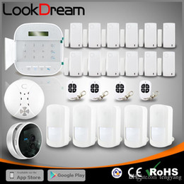 2019 alarme de zone à la maison Parfait WIFI + GSM double système de sécurité résidentielle sans fil anti-effraction à domicile avec caméra IP par DHL gratuit