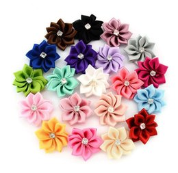 Wholesale Hair Clip Embellishments - 100pcs lot Decoration Flower Polygonal Flower WITHOUT CLIP DIY Girls Hair Accessory Wedding Scrapbooking Embellishment Crafts Accessory 587