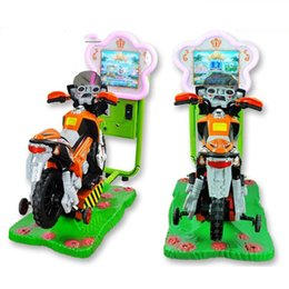 Wholesale Riding Cars Kids - Newest 3D Motor Kiddie Rides Amusement Park Kids Ride Motor Car Racing Game for sale Sunflower Amusement 3D MOTOR Coin Operated Game Machine