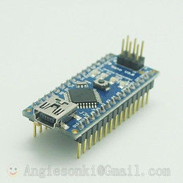Wholesale Pwm Module - Wholesale- Free Shipping New for Arduin Nano V3.0 ATmega328 5V Micro-controller Board Module + Mini USB Cable 6 PWM ports 12 Digital input