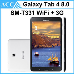 Wholesale Android Gsm Tablet Phone Pc - Refurbished Original Galaxy Tab 4 8.0 SM-T331 8.0 inch GSM 3G Unlock Phone Tablet 1.5GB RAM 16GB ROM 3.0MP Camera Android Tablet PC DHL 5pcs