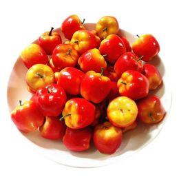 Suministros de decoración de frutas online-Al por mayor- 20pcs Fake Fruit Artificial Foam Red Delicous Apple DIY Party Decoration Supplies