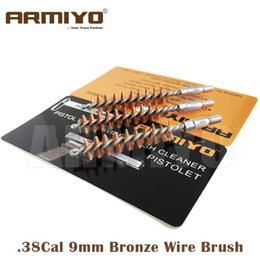 Wholesale Wholesale Bronze Wire - Armiyo 9mm .380 .38 .357 Cal Hunting Pistol Hand Gun Bronze Wire Barrel Cleaning Brush Screw Thread Size 8-32