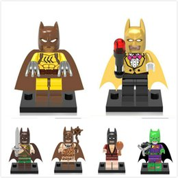 2019 jeu de blocs arc-en-ciel 8pcs / set blocs de construction super héros mutant DC univers Dark Knight arc-en-ciel Bruce Wayne classique bricolage jouets JC006 promotion jeu de blocs arc-en-ciel