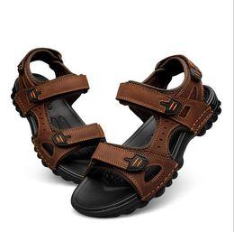 Wholesale Shoe Sandals For Men - Genuine Leather Men Sandals 2017 Casual Sandals Shoes Men Summer Shoes Soft Bottom Beach Sandals For Man
