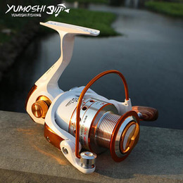 Wholesale Saltwater Trolling Reels - Fishing Pesca Fishing Reel Spinning Wheel Left right Interchangeable Metal Spool Carretilhas De Pescaria for Hengelsport