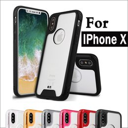Wholesale Wholesale Crystal Cell Phone Cover - cell Phone cases For iPhone X 6 6S 7 8 Plus Samsung Galaxy s6 s7 s8 plus note8 Crystal Soft TPU Hard Acrylic Back Cover Anti shock Cover