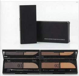 Wholesale Brow Shader - Free Shipping Brand Makeup 2 Colors Eyeshadow, Eyebrow Powder ,Brow Shader( 1 pcs lot)