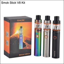 Wholesale E Cig Big Tank - Clone Smok Stick V8 Kit 3000mAh Stick mod Battery 5ml top Filling TFV8 Big Baby Tank VAPE Pen Cloud Beast E cig
